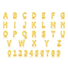 Volumetric gold letters vector image