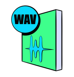 Wav file icon cartoon vector