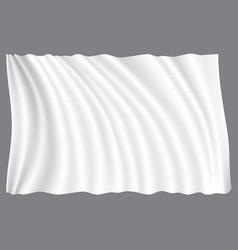 white fabric wave on gray background vector image vector image
