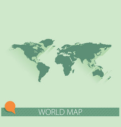world map background with long shadow and flat vector image vector image