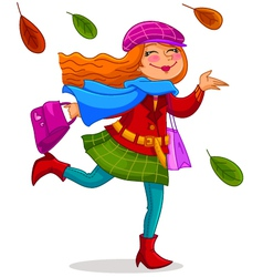 Happy autumn vector