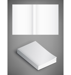 Blank of book cover  template vector