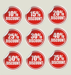 discount sticker labels vector image