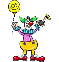 Funny clown cartoon vector