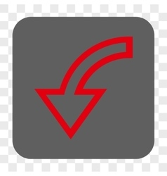 Rotate left rounded square button vector