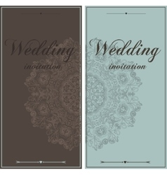 Wedding card flyer pages ornament vector