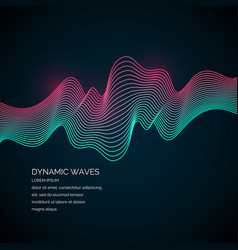 abstract background with a dynamic waves vector image