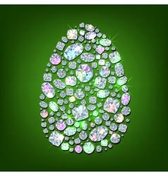 Diamond egg vector image