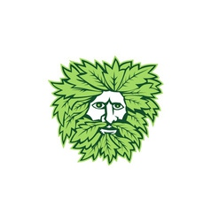 Green man front isolated vector