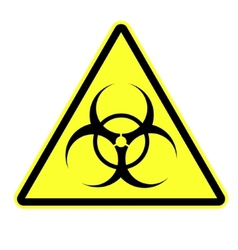 Biohazard symbol sign isolated vector
