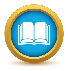Gold book icon vector