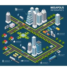 Isometric city concept vector