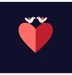 bird lovers heart vector image