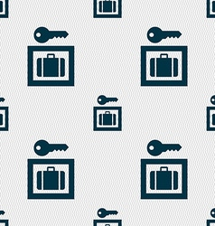 Luggage storage icon sign seamless pattern with vector
