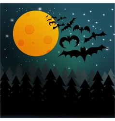 Halloween bats background vector
