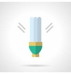 Power save lamp flat icon vector