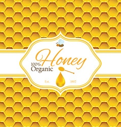 Honey label template for honey logo products with vector