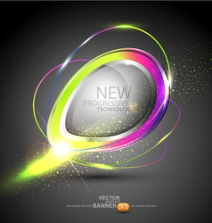 Round color banner vector
