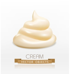 Handful cream mayonnaise swirl vector