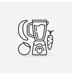 Blender with fruits line icon vector