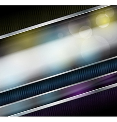 Abstract metallic background with glass banner vector image