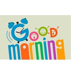 Good morning flat style 2 vector