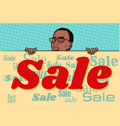 African businessman sale poster background vector