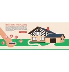 Banner - smart home vector
