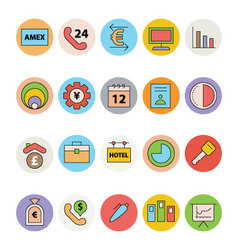 Business and Office Colored Icons 16 vector image