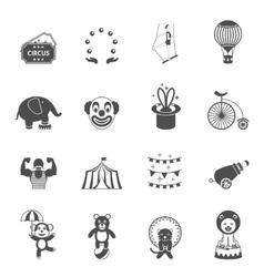 Chapito circus icons set black vector image vector image