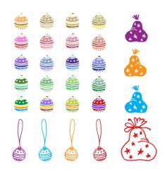 christmas decorations for your design vector image vector image