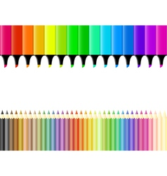 Crayons and markers vector image