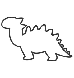 Cute dinosaur icon vector