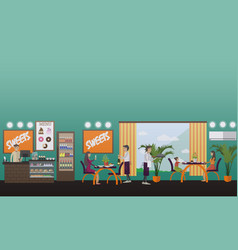eatery concept in flat style vector image vector image