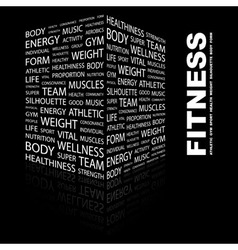 FITNESS vector image