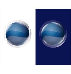 globe blue vector image vector image