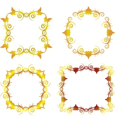 gold floral frame 1 vector image vector image