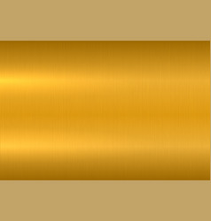 Golden metallic texture polished metal surface vector
