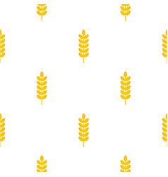 Grain spike pattern seamless vector