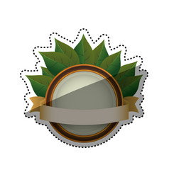 green ecology label vector image