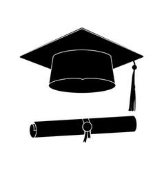 icons graduation cap vector image vector image