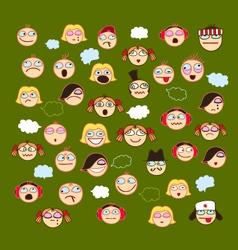 Ikon Series Face vector image