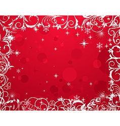 luxury grunge winter floral frame - vector image