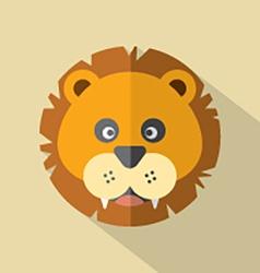 Modern Flat Design Lion Icon vector image vector image