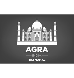 Stencil of the Taj Mahal on a gray background vector image