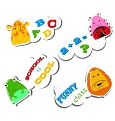 Stiker Funny animals vector image
