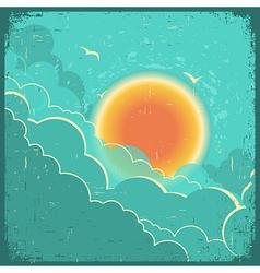 Vintage sky background vector