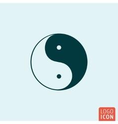 Ying yang icon vector