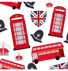 England pattern background icon vector