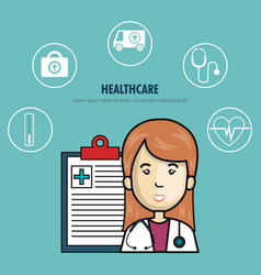 medical healthcare isolated icon vector image